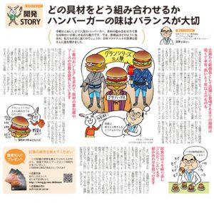 マクドナルド開発STORY紙面